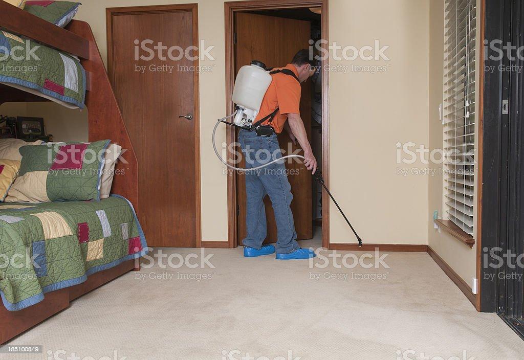 Professional Spraying Carpet stock photo