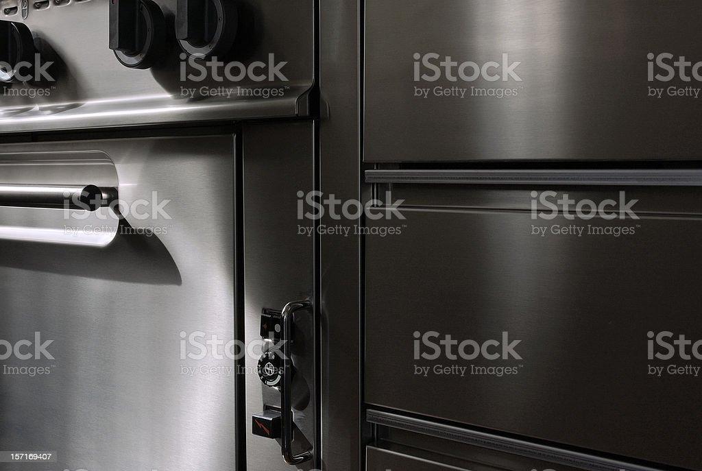 Professional stove. royalty-free stock photo