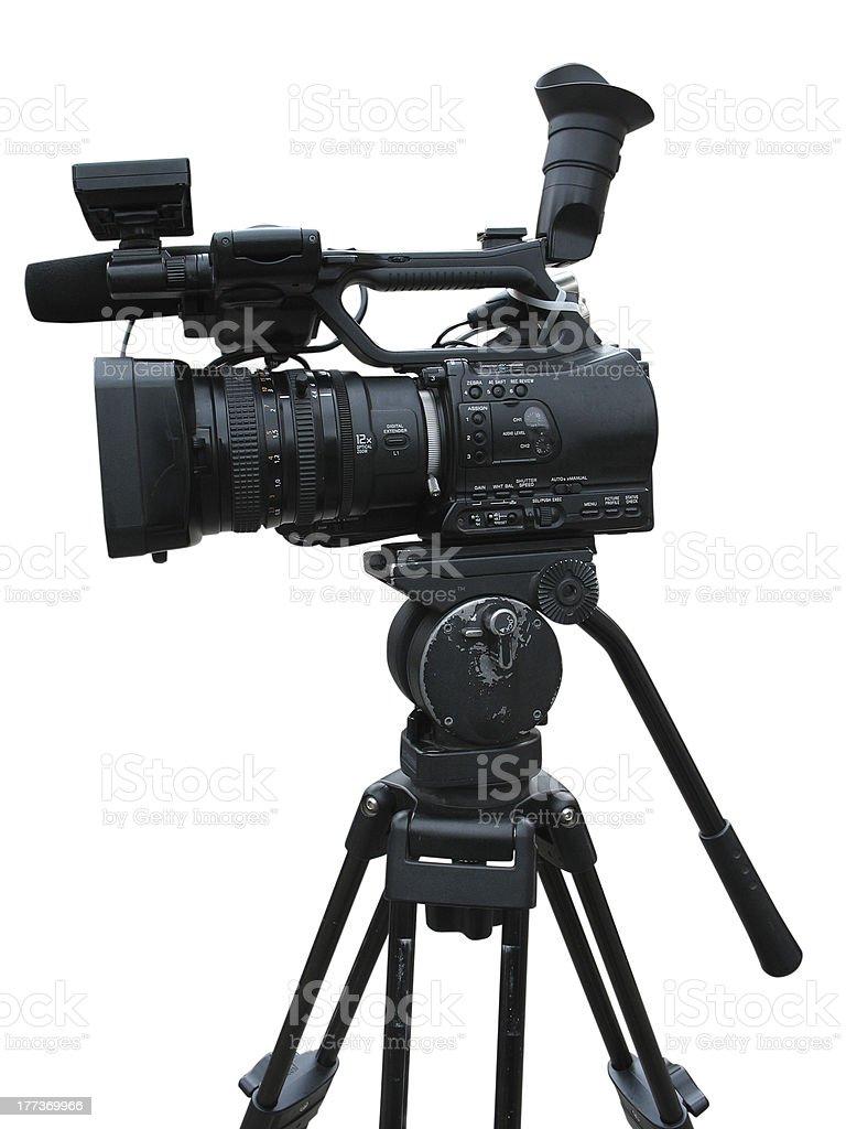 TV Professional studio digital video camera isolated stock photo