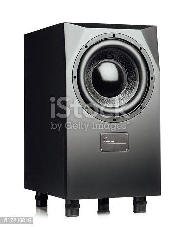 istock professional studio subwoofer speaker isolated on white 817810016