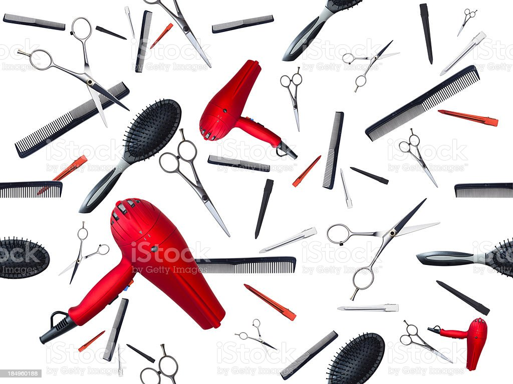 Professional Style Tools (seamless) stock photo
