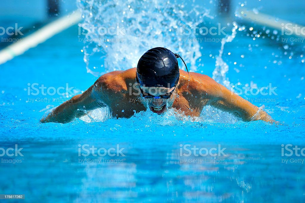 Professional swimmer stock photo