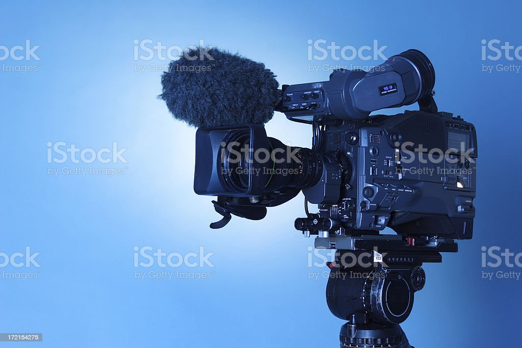 Professional TV CAM - 1 (w.path) royalty-free stock photo