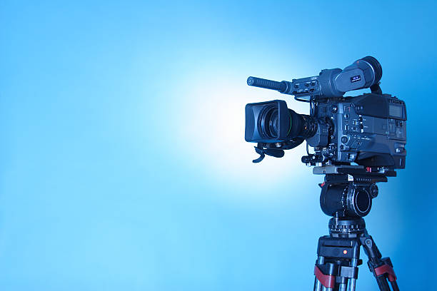 Professional TV CAM - 3 (cl. path) stock photo