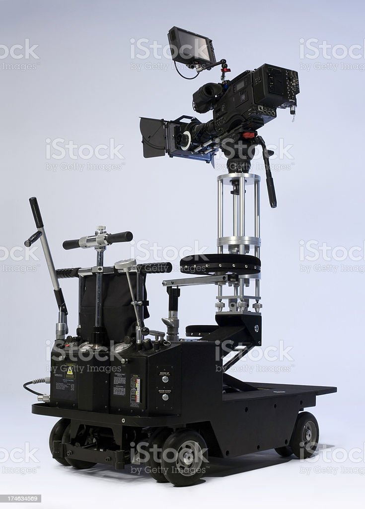 Professional Video Camera Dolly stock photo