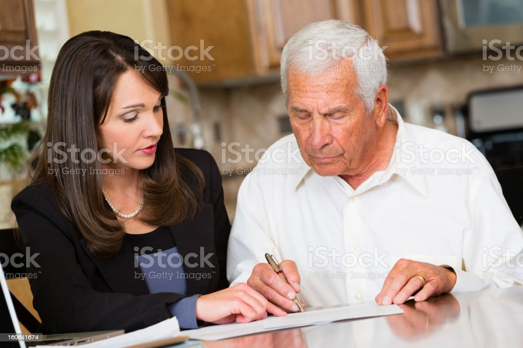Professional with Client stock photo