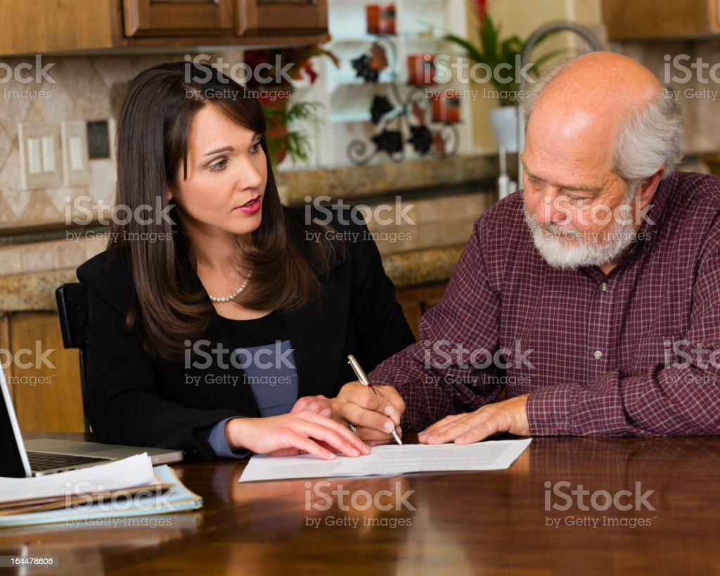 Professional with Client royalty-free stock photo