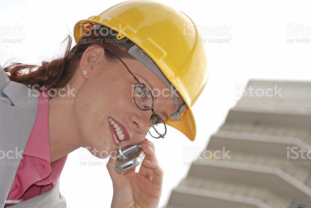 Mujer profesional-arquitecto foto de stock libre de derechos