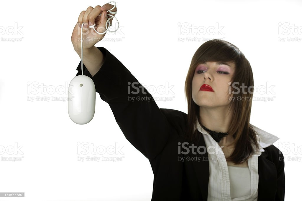 Professional Woman Caught a Mouse royalty-free stock photo