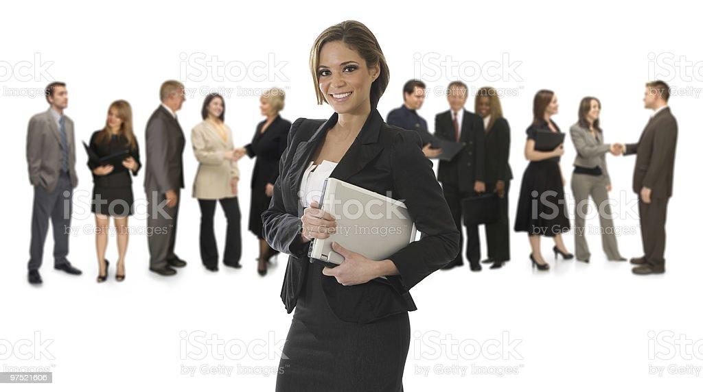 Professional Woman on White stock photo