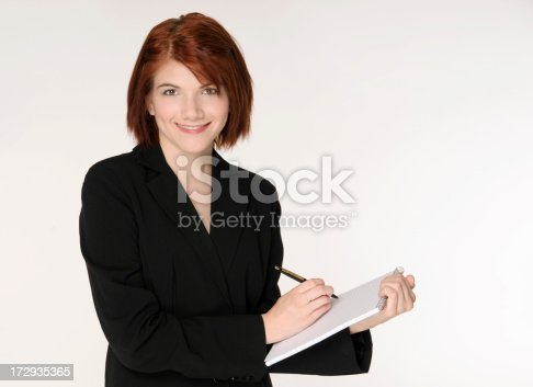 istock Professional Woman With Note Pad 172935365