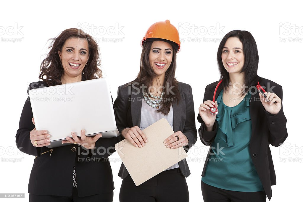 Professional women in the workforce royalty-free stock photo