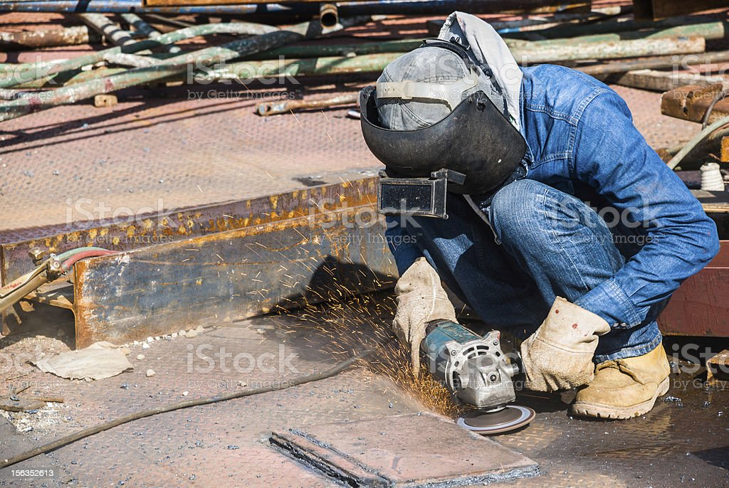 professional worker in construction industry royalty-free stock photo
