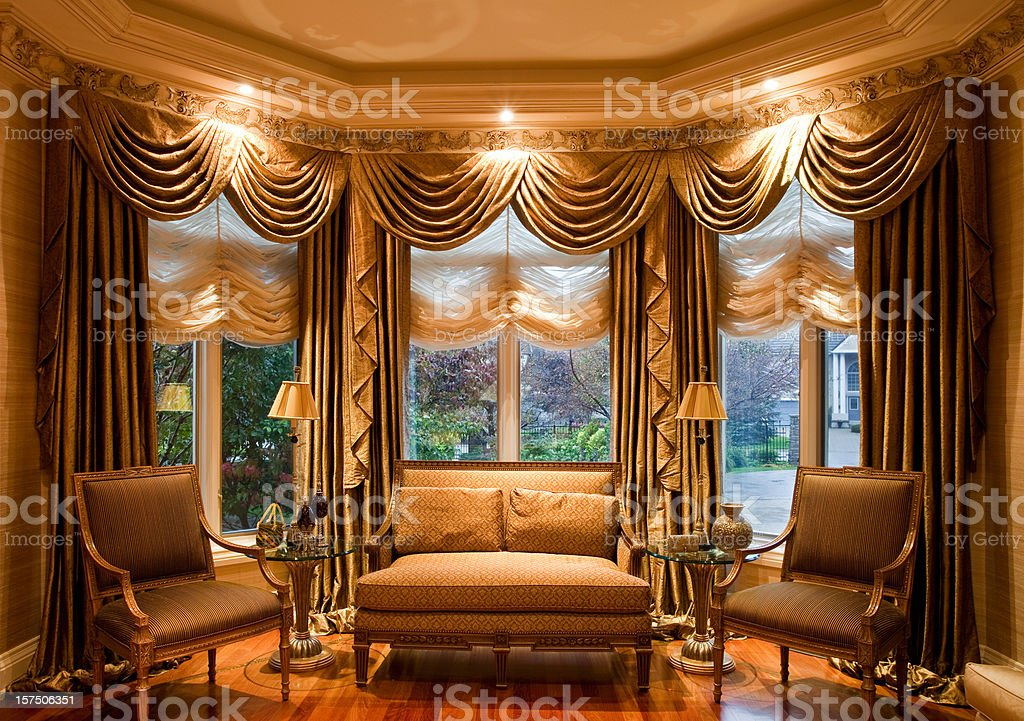 Professionally decorated living room royalty-free stock photo