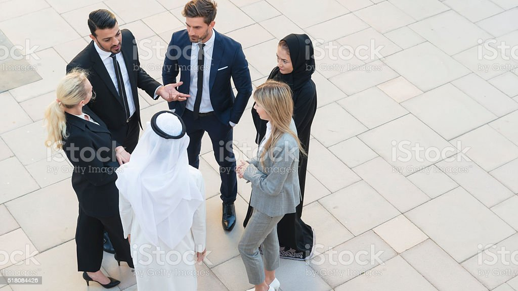 Professionals in Middle East stock photo