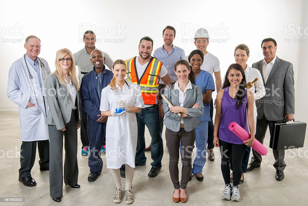 Professionals Standing Together stock photo
