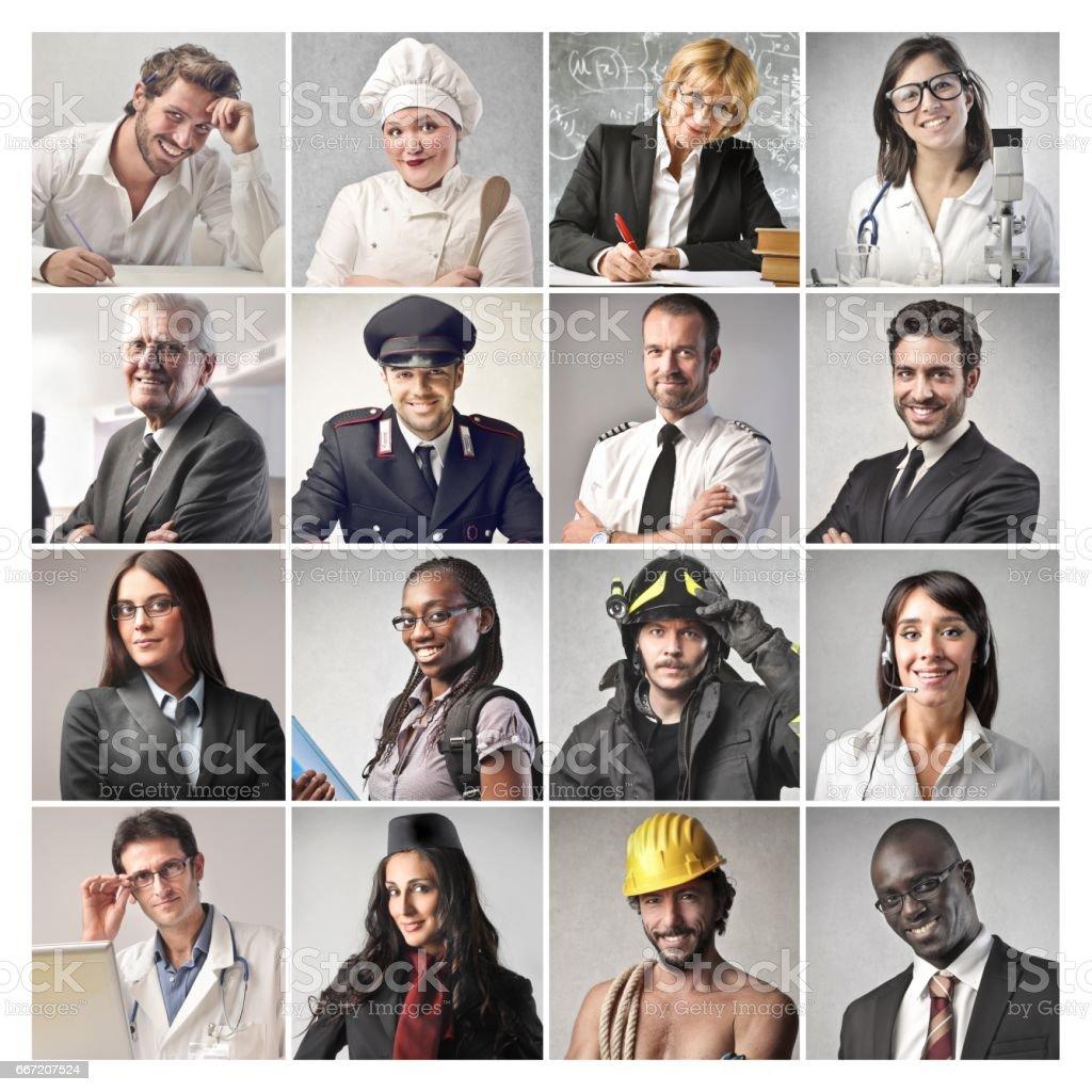 Professions stock photo