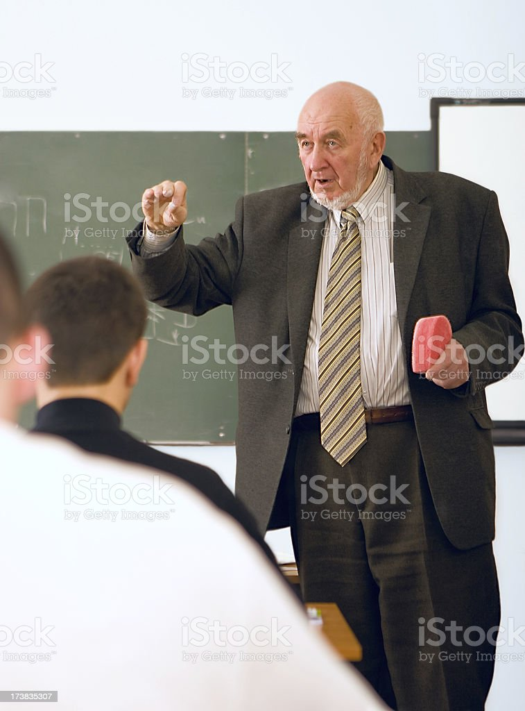 Professor and students royalty-free stock photo