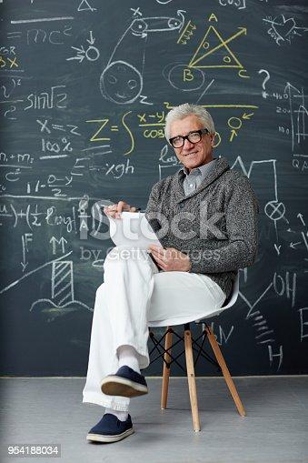 istock Professor by blackboard 954188034