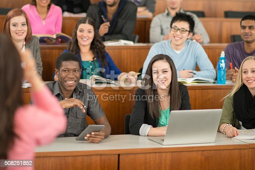 istock Professor Giving a Lecture in University 508251852