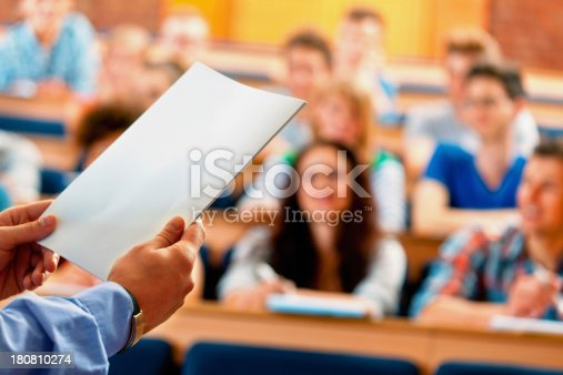 istock Professor giving a lecture 180810274