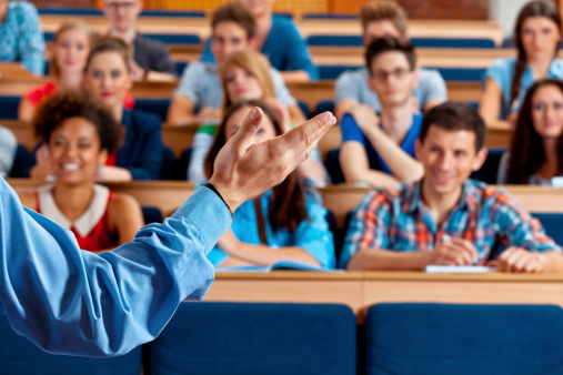 Professor Giving A Lecture Stock Photo - Download Image Now
