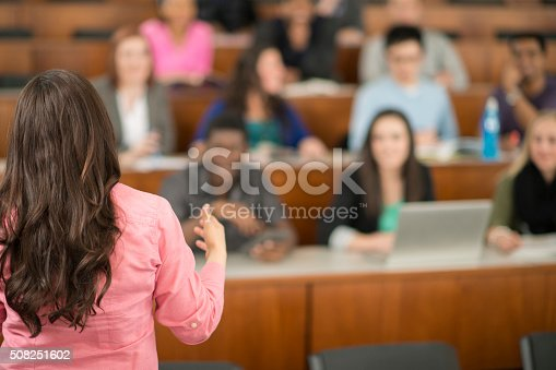 istock Professor Giving a Lecture 508251602