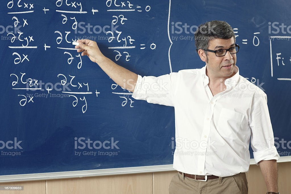 Professor giving class at the classroom royalty-free stock photo