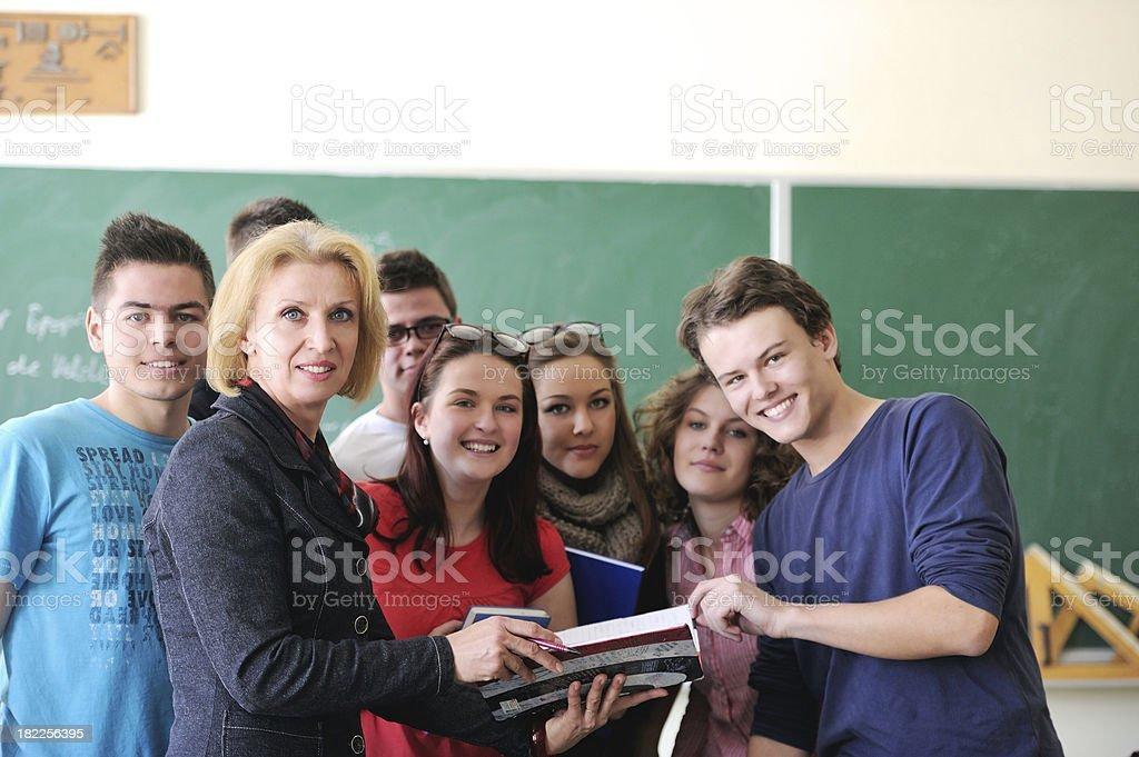 Professor holding a book stock photo