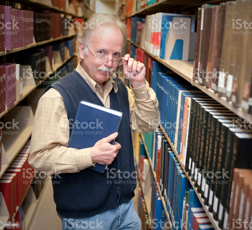 Professor in Library Series royalty-free stock photo