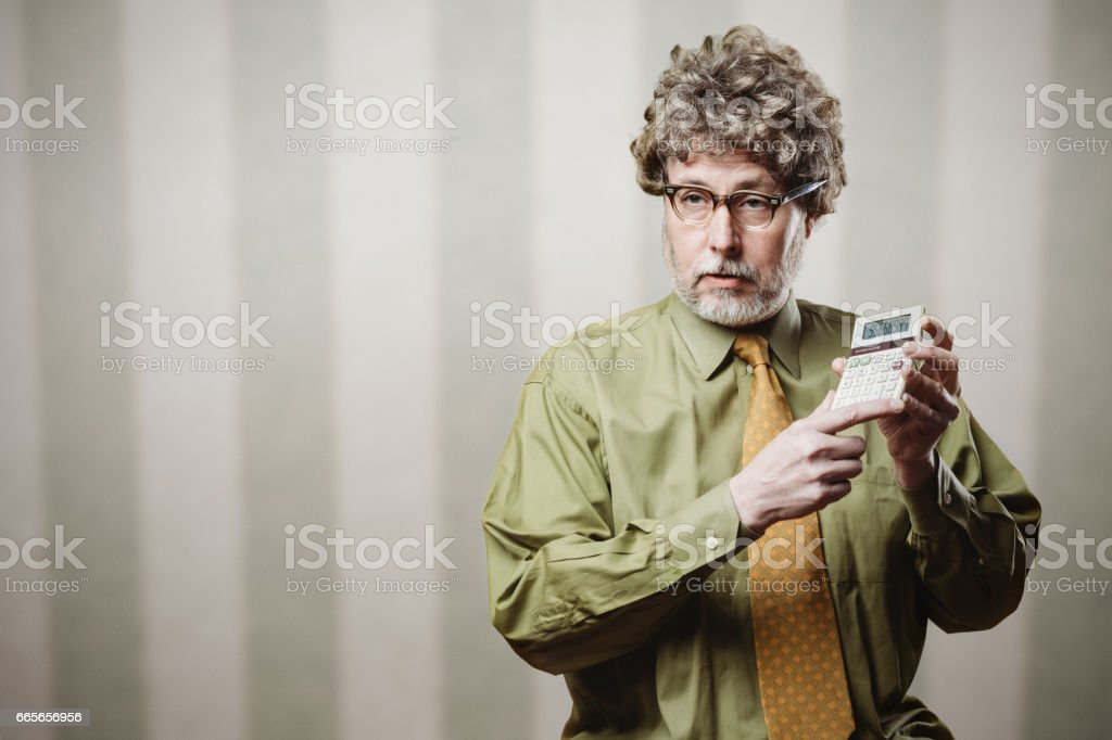 Professor Lecturing on Math stock photo