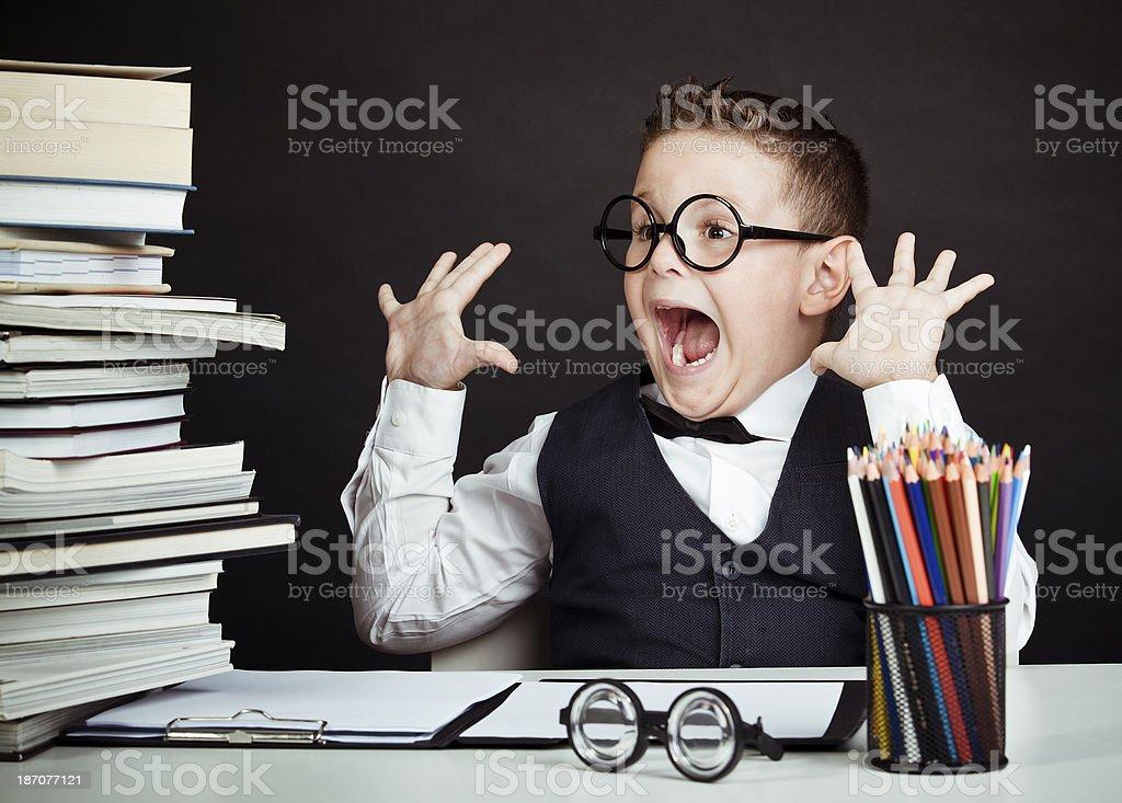 professor of child royalty-free stock photo