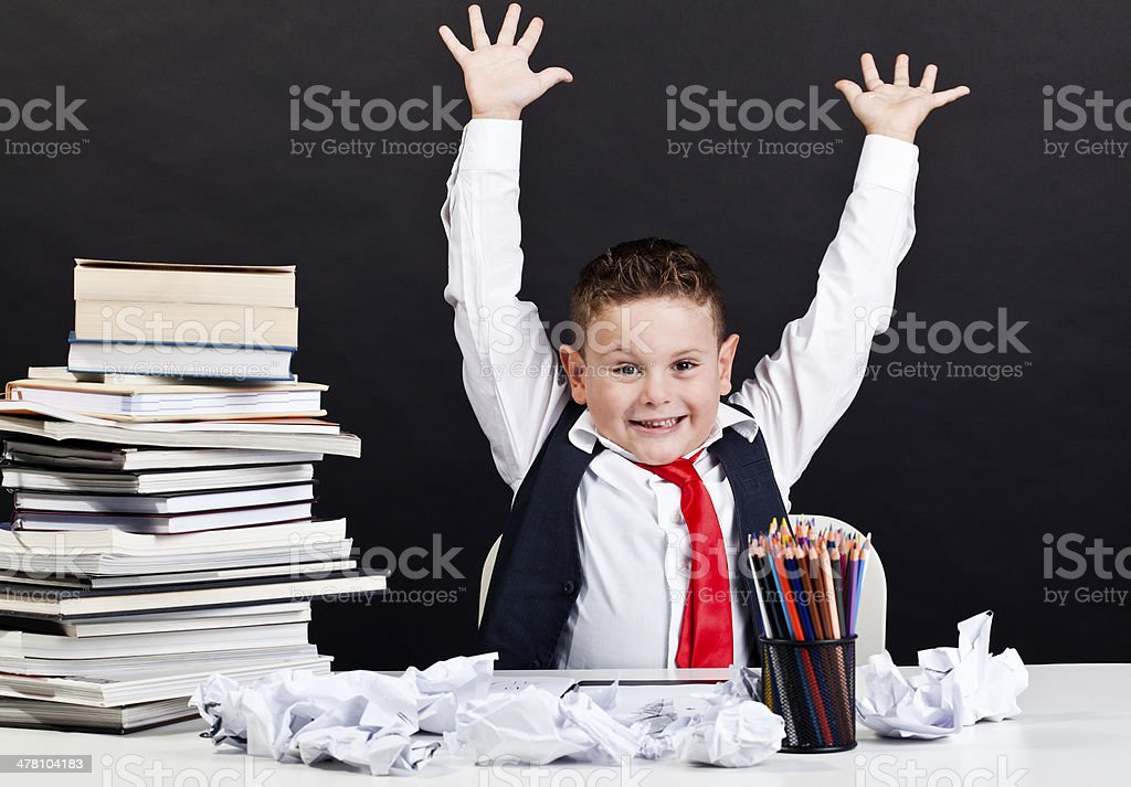 professor of child royalty-free stock photo