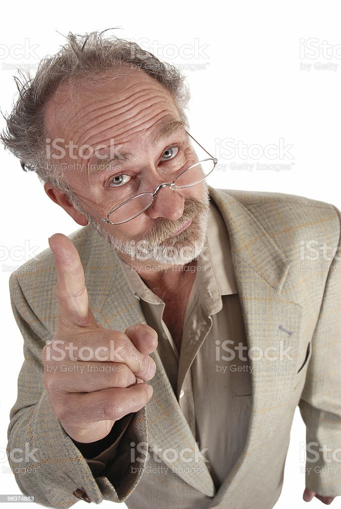 Professor pointing royalty-free stock photo