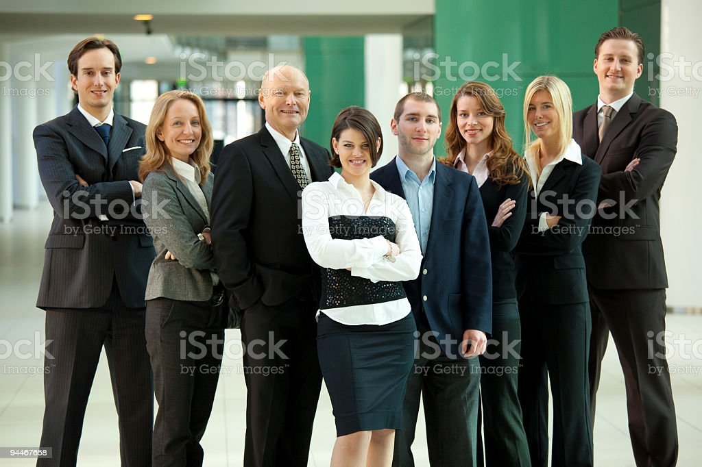 professor with his students royalty-free stock photo