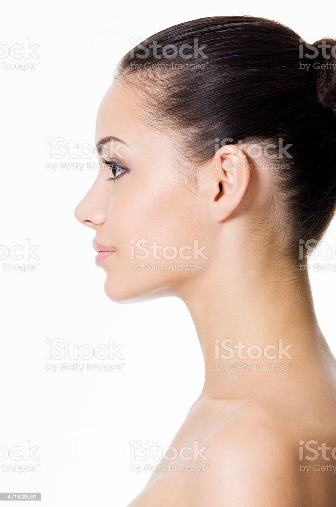 profilo del viso di giovane donna foto stock royalty free
