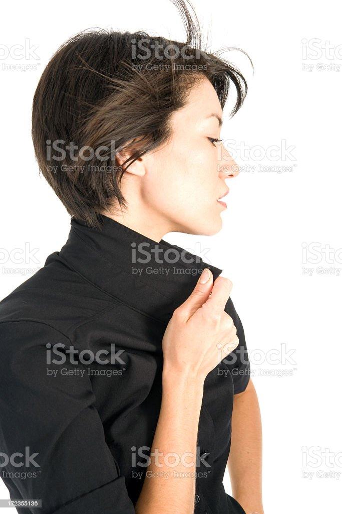 Profile female model royalty-free stock photo