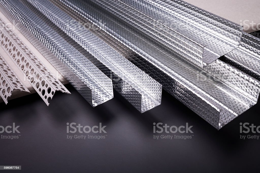 Profile for building structures royalty-free stock photo