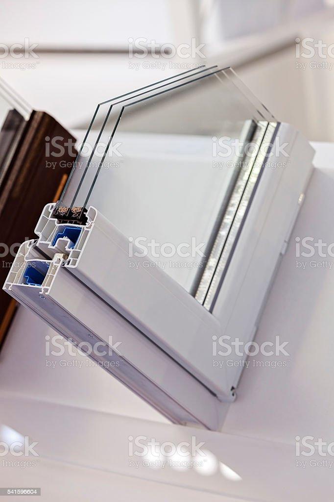 PVC profile for window stock photo