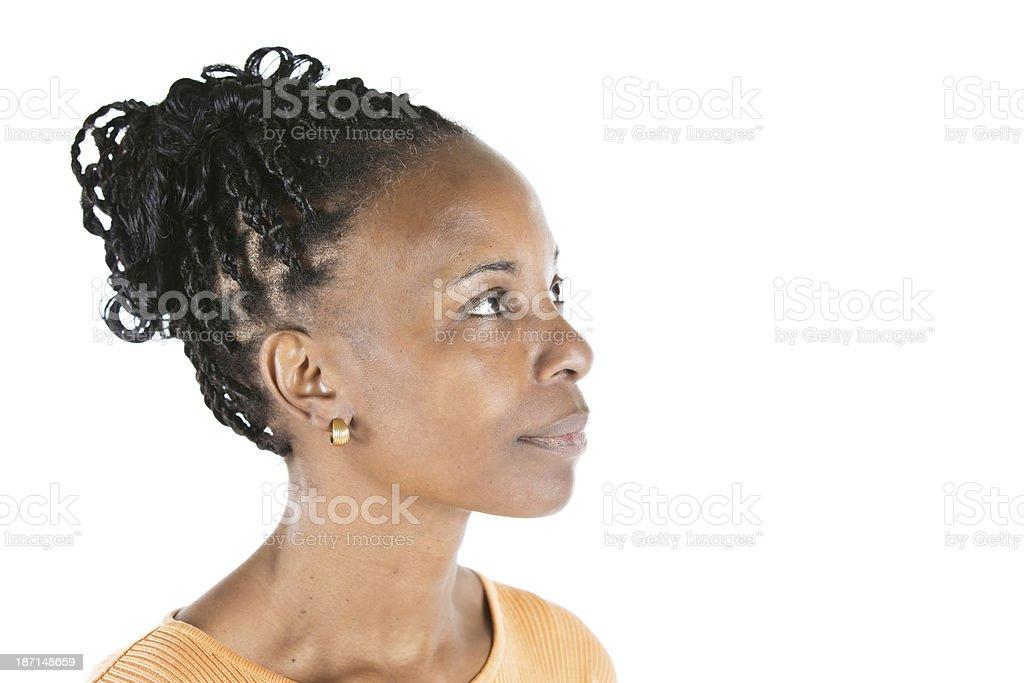 Black woman profile