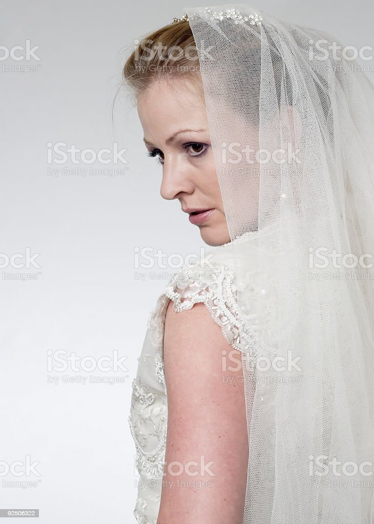 Profile of a Bride royalty-free stock photo