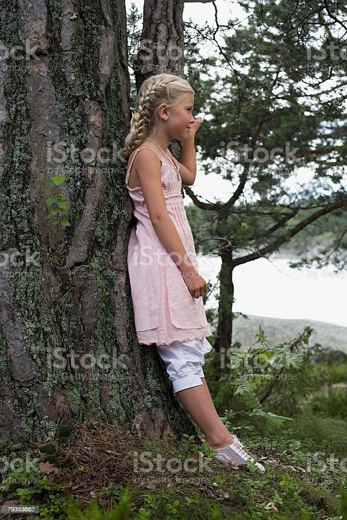 Profile of a girl royalty-free stock photo