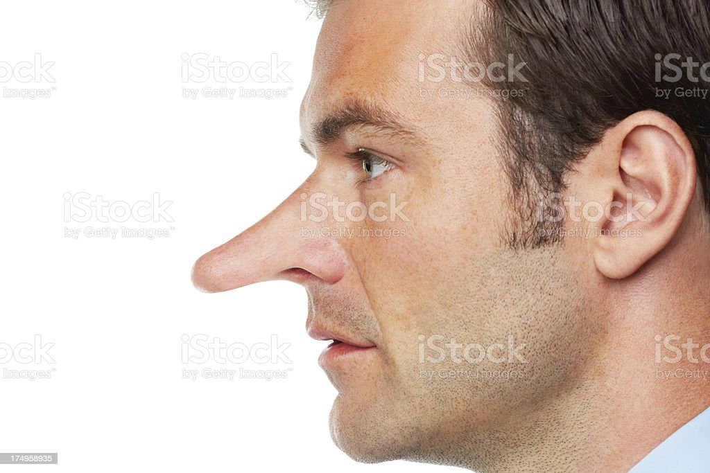 Profile of a liar - Unethical Business royalty-free stock photo
