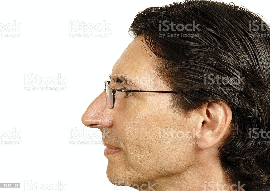 Profile of A Man stock photo