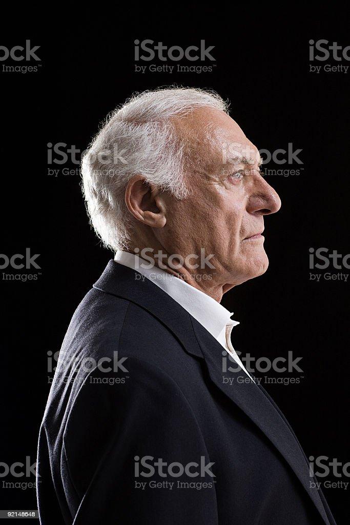 Profil von einem senior Erwachsener Mann – Foto