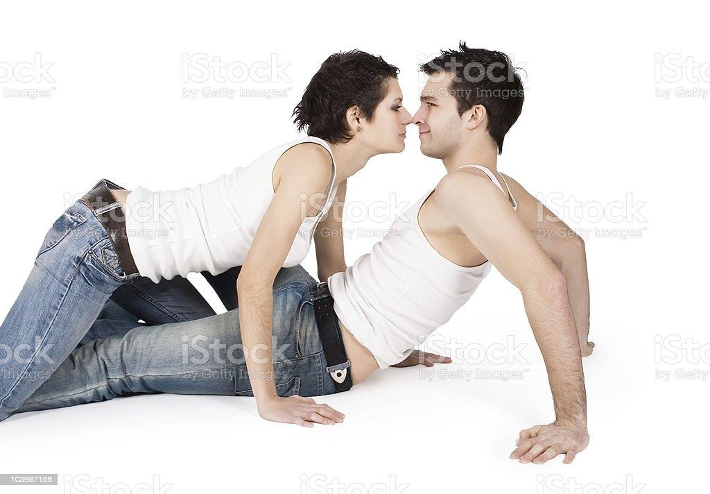 Photo Libre De Droit De Profil De Souriant Jeune Couple Dans