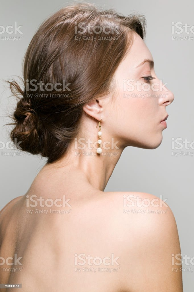 Profile of a young woman royalty-free stock photo