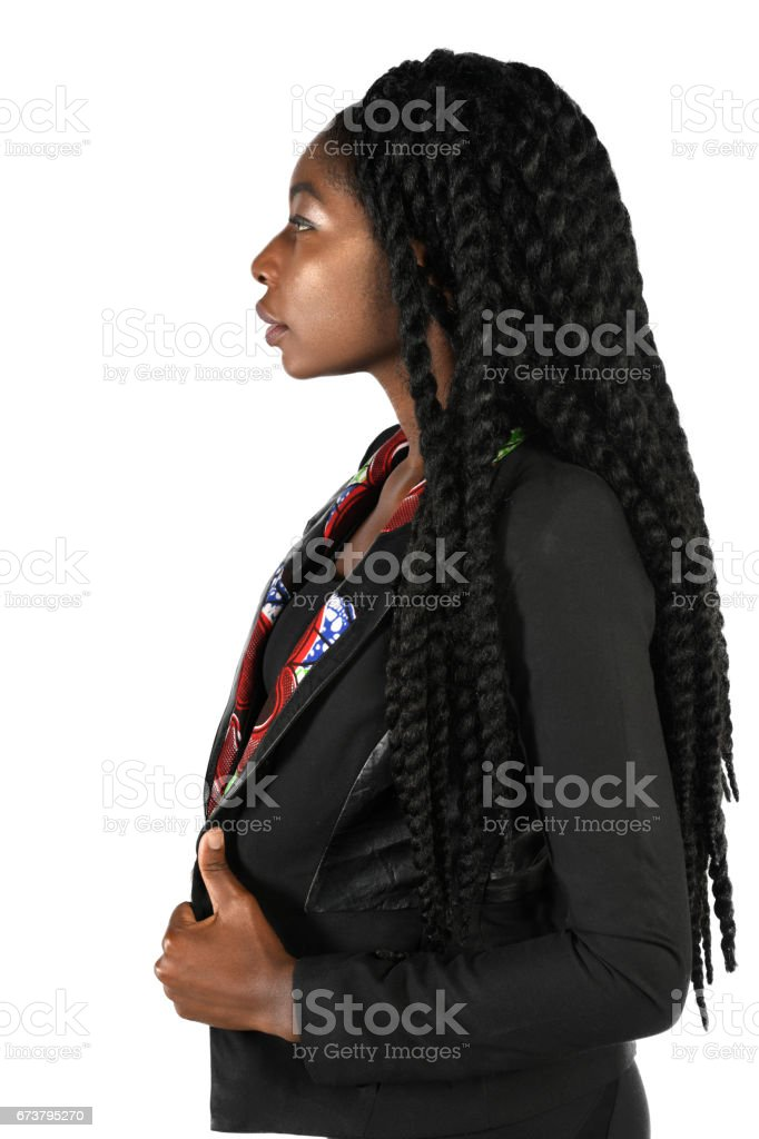 Profile of African American Businesswoman royalty-free stock photo