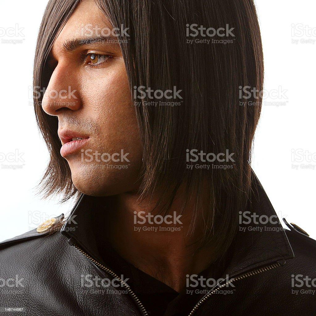 profile of attractive man stock photo
