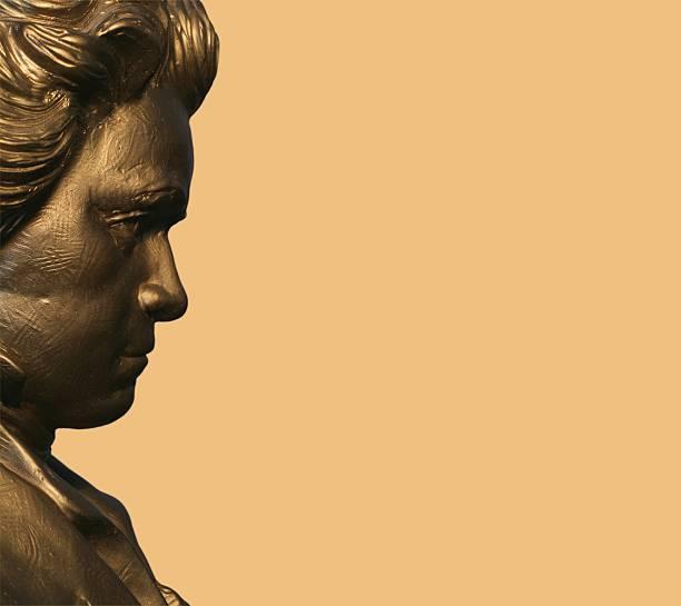 Profile of Beethoven stock photo